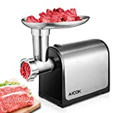 : Aicok Meat Grinder, Meat Mincer Grinder with Reverse Function and Powerful Suction Base, Heavy Duty Stainless Steel Grinding Blades, Quick and Labour-saving Grinder for Meat, Vegetables, Fruits