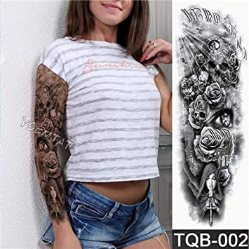 Amazoncom Large Arm Sleeve Tattoo Waterproof Temporary