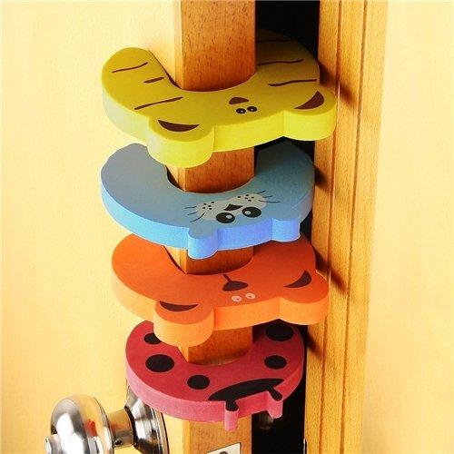 4xanimal BFlowerYan Door Stop Finger Pinch Guard 4pc-pack Mixed Color
