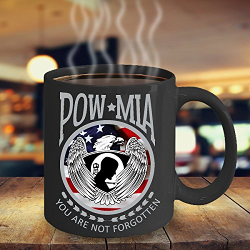 Pow Mia You Are Not Forgotten special Mug, Veteran Gift Mug, Veteran Of The United States Coffee mug, Coffee Black - Stove Can Fuel Beer