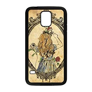 Stylish Fairy Tales Wonderland Design Plastic Case for Samsung Galaxy S5