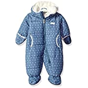 Osh Kosh Baby Boys Girls Pram Suit with Cozy Lining, Chambray Flowers, 3-6 Months