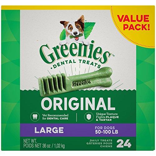 [Greenies Dental Chews Value Size Tub 24ct 72oz Large (2 x 36oz)] (24 Ct Tub)