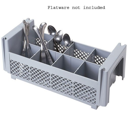 Cambro 8FBNH434151 8-Compartment Flatware Rack, Gray, 1/2 Size by Cambro