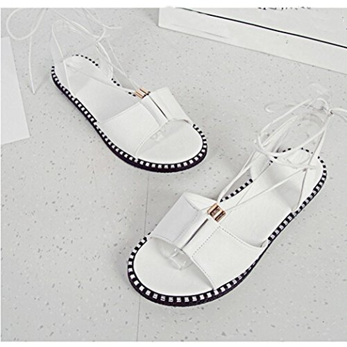 The New Fish Mouth Rome Men's Sandals(White) - 3