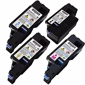 MyTripleBest® Compatible Set of 4 Black, Cyan, Magenta, Yellow Toners for the Dell C1660w