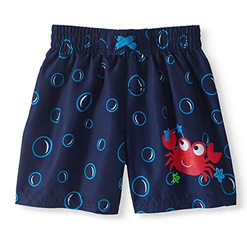 Healthtex Baby Boys Swim Trunks (Navy/Bubbles/Smiley Crab, 0-3 Months)
