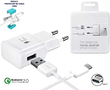 TPC - Cargador Rápido Original EP-TA20EWE (15W) USB-C para Galaxy ...