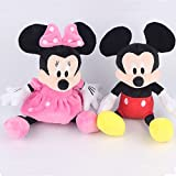 Mickey and Minnie Mouse Soft Toys Gift For Kids (Girls and Boys) Figurines For Birthday (Return) Gift Set of 2 Multi-Color Medium Size (Imported Quality)