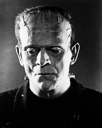 Frankenstein Boris Karloff bolt in neck classic 8x10 Promotional Photograph