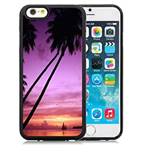 NEW DIY Unique Designed iPhone 6 4.7 Inch TPU Phone Case For Tahiti Palm Trees Phone Case Cover