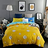 Full Size Emoji Comforter Set Sandyshow 3PC Emoji Bedding For Boys And Girls Kids Full/Queen Microfiber Duvet Cover Set