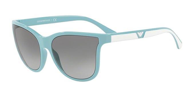 Ray-Ban 0EA4112, Gafas de Sol para Mujer, Azure, 57: Amazon ...