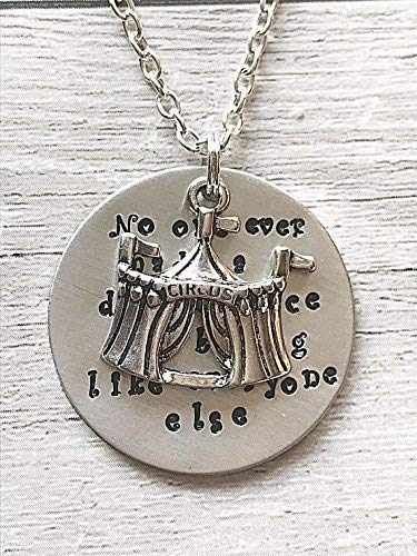 Hand Stamped Necklace PT Barnum Quote Circus Charm Jewellery