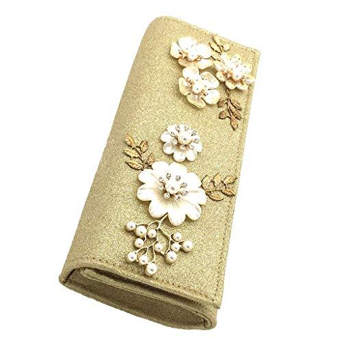 Bodas Crossbody Borse Flores 32203 Dore Strass De Elegante Idea Bag Y Regalo Envelope Tote Mujer Noche Clutches Glitter La Bandolera Rígida Fiestas Para Mini Angkorly Moda dZwqXZC