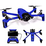MightySkins Skin for Parrot Anafi Drone - Blue Carbon Fiber | Protective, Durable, and Unique Vinyl Decal wrap Cover | Easy to Apply, Remove, and Change Styles | Made in The USA