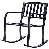 Patio Pocking Chair Deck Metal Porch Seat Outdoor Backyard Glider Rocker
