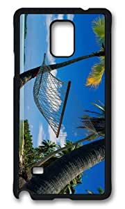 MOKSHOP Adorable Beach Hammock Palms Hard Case Protective Shell Cell Phone Cover For Samsung Galaxy Note 4 - PCB