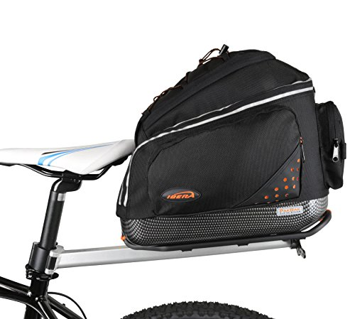 (Ibera PakRak Bicycle Seat Post Commuter Rack and Quick-Release Bag)