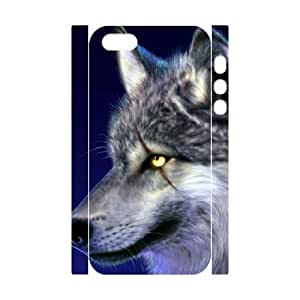3D Bumper Plastic Customized Case Of Wolf for iPhone 5,5S by icecream design