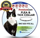 Premium Flea and Tick Collar for Cats | Prevents and Removes Fleas - Ticks - Lice and Mosquitos in 24 Hours | 8 Months Protection | 100% Natural Essential Oil Flea Prevention for Cats