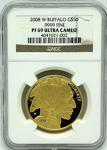 2008 W Gold Buffalo Proof $50 PF69 NGC