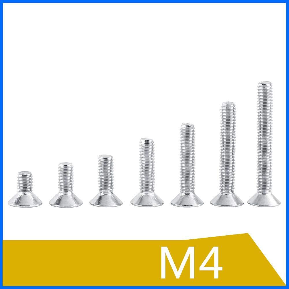 M4/×30 50 piezas de tornillos de cabeza plana M4 para electrodom/ésticos y oficinas equipos de comunicaci/ón y otras industrias de maquinaria Tornillo de accionamiento Star