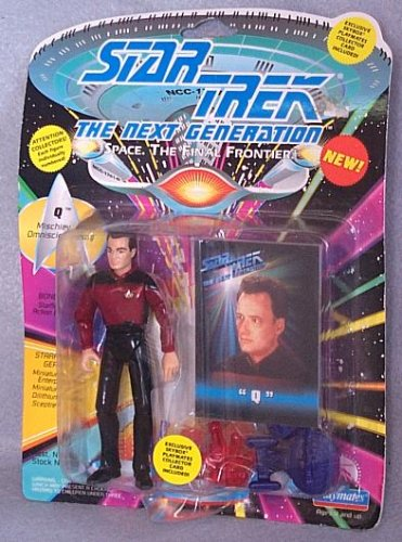 (Star Trek The Next Generation Q in Starfleet Uniform 4 inch Action Figure)