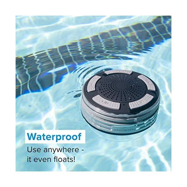 Bluetooth Shower Speaker Waterproof by Johns Avenue in the Pool