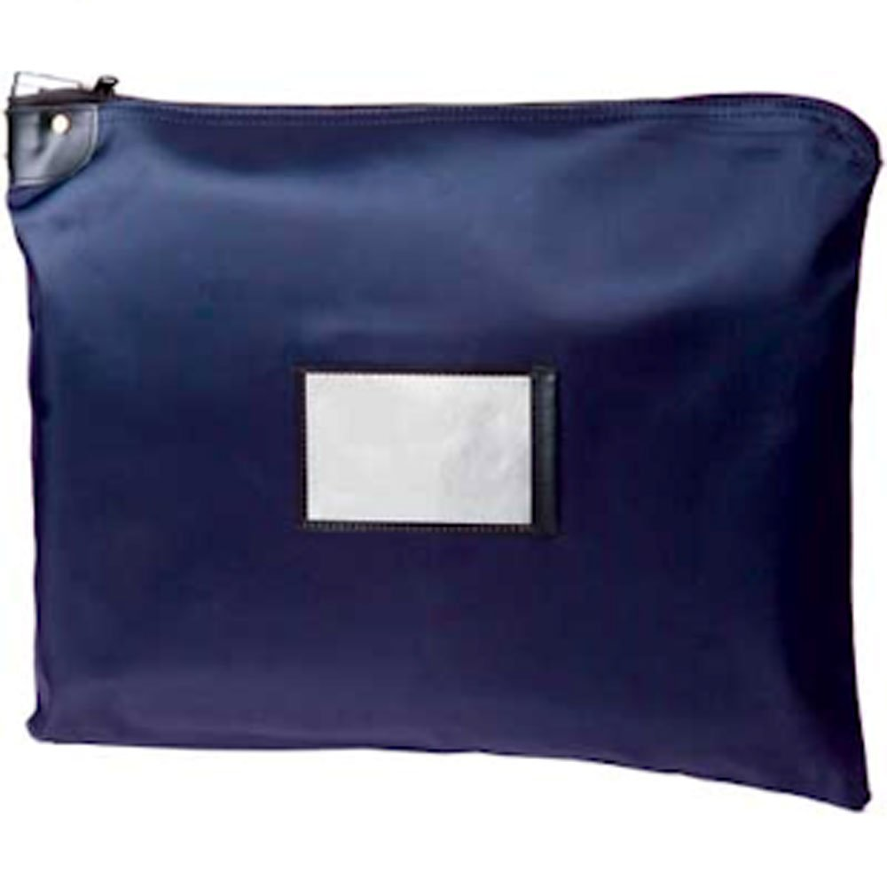 Navy Blue HIPAA Locking Courier Bag - 19W x 15H BankSupplies