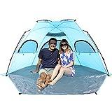 Cheap Porpora Outdoor X-Large Deluxe Beach Tent Quick Portable UV Sun Sport Shelter Cabana Instant Easy Up Beach Umbrella Tent