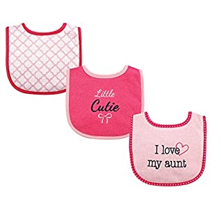 Luvable Friends Unisex Baby Cotton Drooler Bibs with Fiber Filling, Girl Aunt, One Size