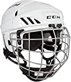 CCM FitLite 40 Hockey Helmet Combo, Medium, White