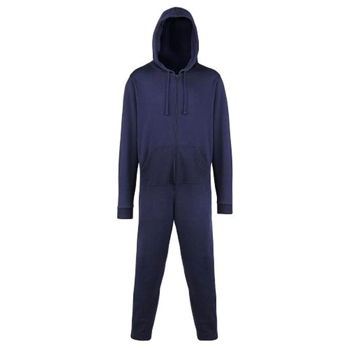 mujer o de Hombre Con Capucha Algodón Todo En Uno Mono pijama - Azul Marino,
