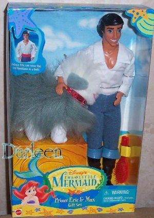 Barbie Disney Prince ERIC and Max Doll Set from The Little Mermaid