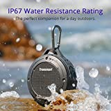 Bluetooth Speaker, Tronsmart Portable IP67 Water-Resistant Wireless Mini Speaker with 3W Driver,Buit-in Mic, 6hrs Playtime for iPhone, Pool, Beach-Gray