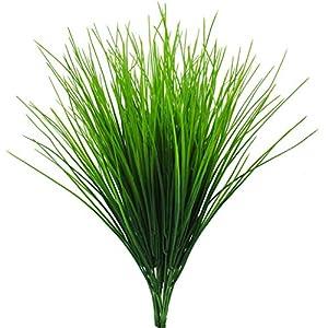 Bird Fiy Artificial Greenery Plastic Wheat Grass Fake Leaves Shrubs Greenery Bushes Indoor Outside Home Garden Office Verandah Wedding Décor 7