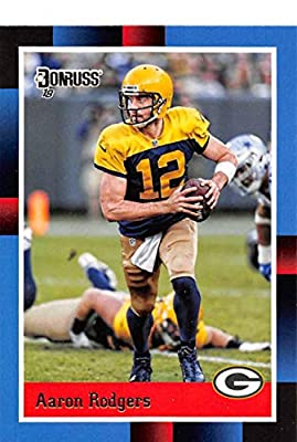 bfdd16ad332 2018 Donruss 1988 Tribute Football #1 Aaron Rodgers Green Bay Packers  Official NFL Trading Card