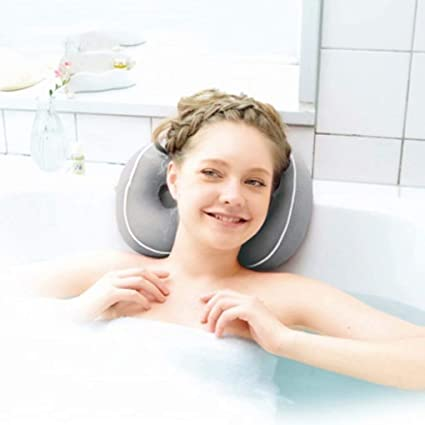 Spa Bath Bathtub Pillow Bathroom Neck Support Back Comfort Jacuzzi Hot Tub Gift