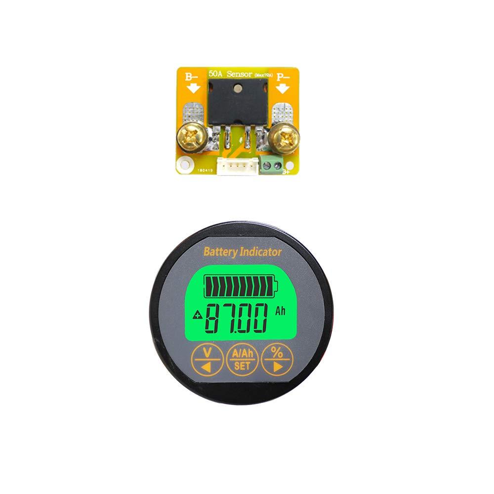 AiLi Voltmeter Ammeter Voltage Current Meter Voltmeter Ammeter 80V 350A Caravan RV Motorhome 999 AH