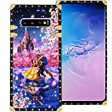 DISNEY COLLECTION Beauty and Beast Dance Phone Case for Samsung Galaxy S10+ (2019) [6.4in] Shockproof and Protective Phone Cover with Classical Style