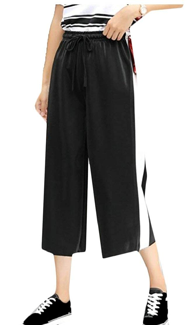 63305370d480 Alion Womens Loose Sport Pants Side Striped High Waist Cropped Pant at  Amazon Women's Clothing store: