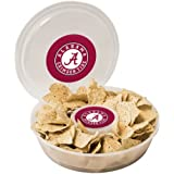 NCAA Plastic Chip and Dip Container, Clear