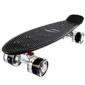 FunTomia Mini-Board 57cm Skateboard mit oder ohne LED Leuchtrollen inkl....