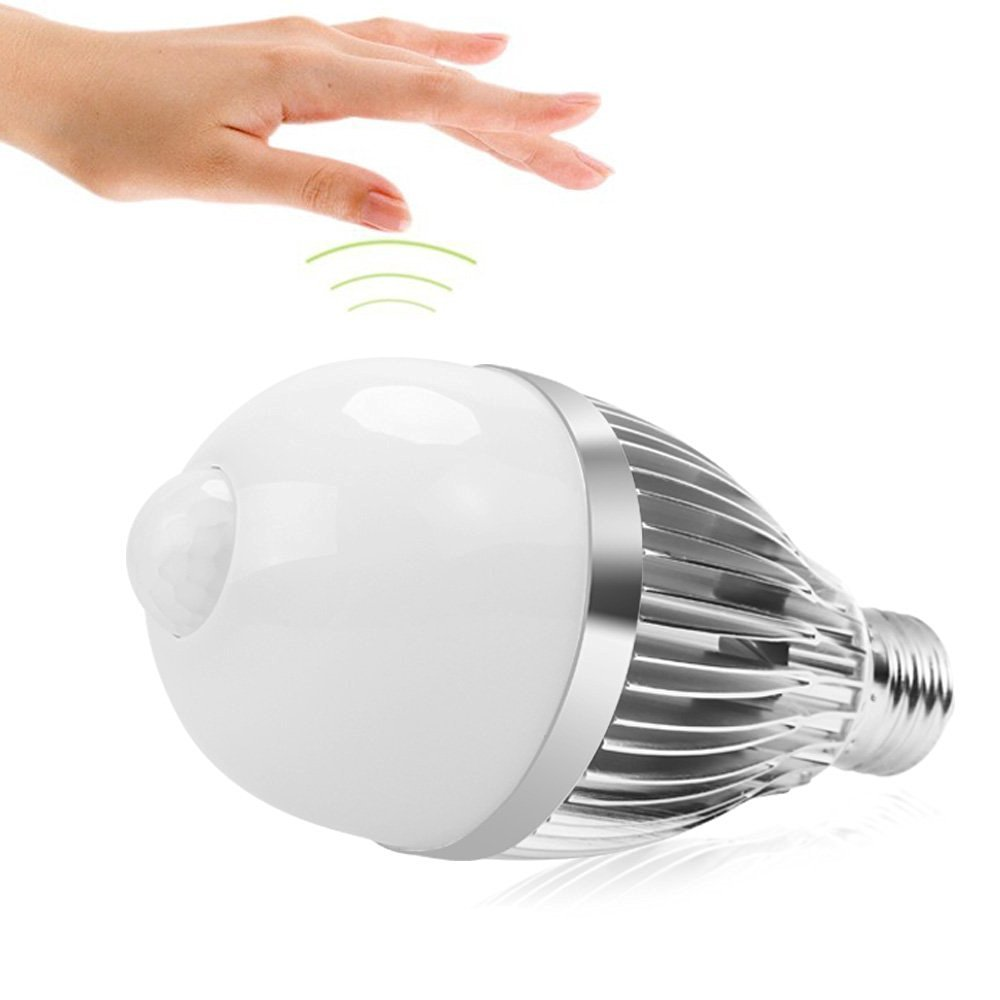 iRainy E27 9W Bombillas LED con Sensor de Movimiento, Luz Blanca Cálida: Amazon.es: Iluminación