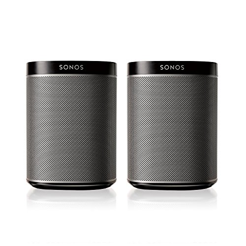 Sonos PLAY:1 2-Room Wireless Smart Speakersfor Streaming Music – Starter Set Bundle (Black)