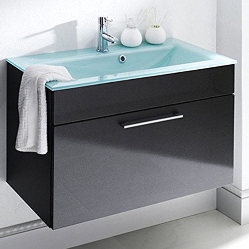 Bathroom Vanity Glass Sink Wall Mounted Espresso Dark Brown LV-1040E (Wall Mounted Sink Bracket)