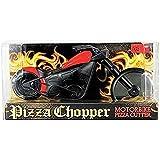Roulette à pizza Pizza Chopper Moto Lame en acier inoxydable poignée en plastique ergonomique Passe au lave-vaisselle 22cm Longueur 6,5cm diamètre de roue