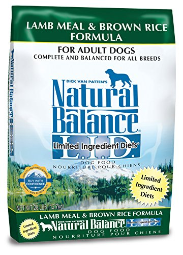 Natural Balance L.I.D. Limited Ingredient Diets Dry Dog Food, Lamb Meal & Brown Rice Formula, (Dog Boutique Online)