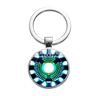 Amazon.com: Keychains 2019 New Design Iron Man Heart Tony ...